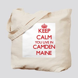 Keep calm you live in Camden Maine Tote Bag
