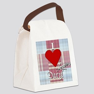 I Love Daryl w/plaid and crossbow Canvas Lunch Bag