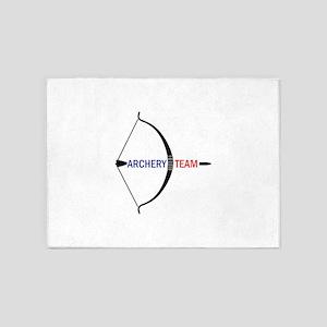 ARCHERY TEAM 5'x7'Area Rug