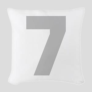 SILVER #7 Woven Throw Pillow
