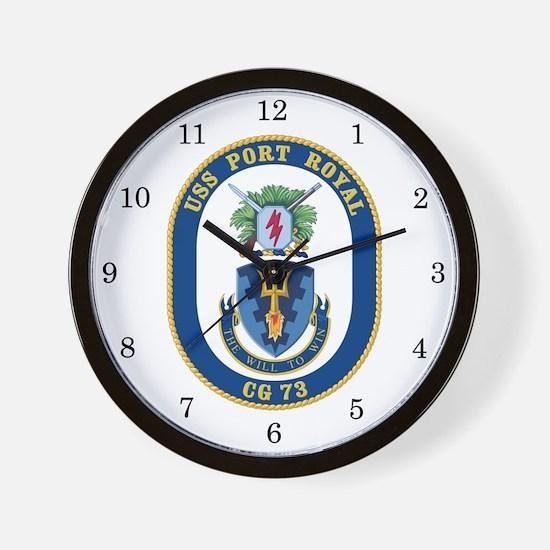 USS Port Royal CG-73 Wall Clock