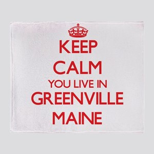 Keep calm you live in Greenville Mai Throw Blanket
