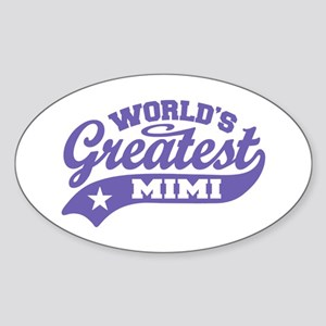 World's Greatest Mimi Sticker (Oval)