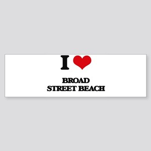 I Love Broad Street Beach Bumper Sticker
