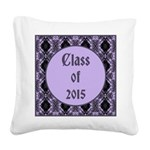 Class of 2015 Lilac Square Canvas Pillow