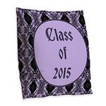 Class of 2015 Lilac Burlap Throw Pillow