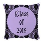 Class of 2015 Lilac Woven Throw Pillow