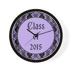 Class of 2015 Lilac Wall Clock