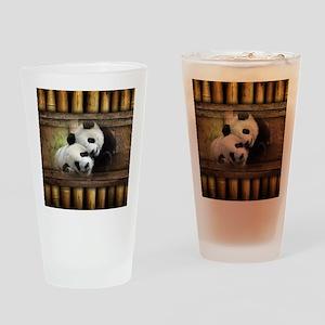 Panda Bear Love Drinking Glass