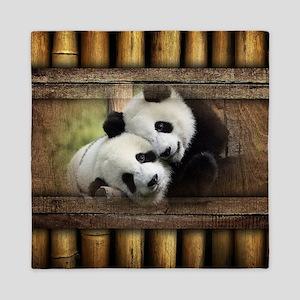 Panda Bear Love Queen Duvet