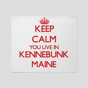 Keep calm you live in Kennebunk Main Throw Blanket