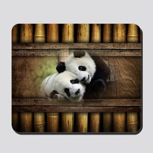 Panda Bear Love Mousepad