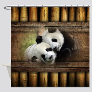 Panda Bear Love Shower Curtain