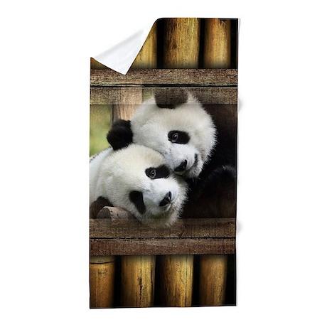 Panda Bear Love Beach Towel