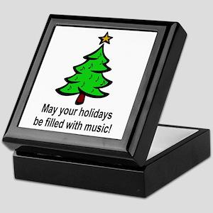 Musical Christmas Holiday Keepsake Box