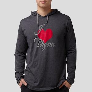 I love (heart) Chyna Mens Hooded Shirt