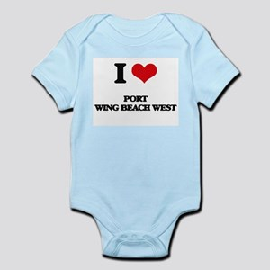 I Love Port Wing Beach West Body Suit