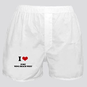 I Love Port Wing Beach West Boxer Shorts