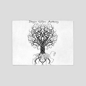 Celtic Tree Horse 5'x7'Area Rug