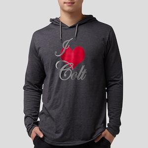 I love (heart) Colt Mens Hooded Shirt