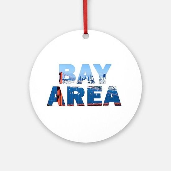 Bay Area Golden Gate Bridge 08 Ornament (Round)