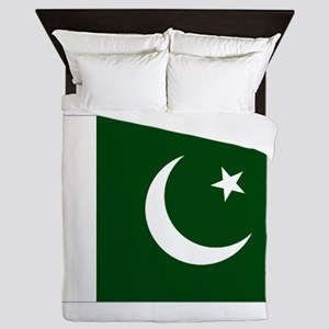 Pakistani flag Queen Duvet