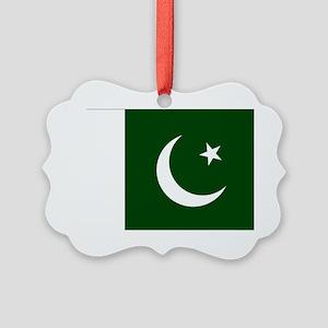 Pakistani flag Picture Ornament