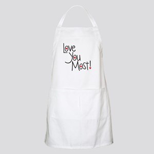 Love you most! Apron