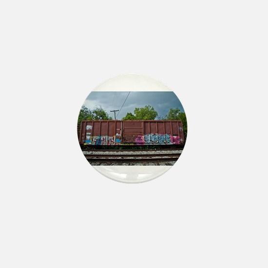 Train Graffiti Mini Button