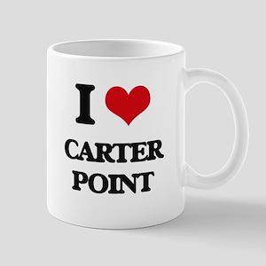 I Love Carter Point Mugs
