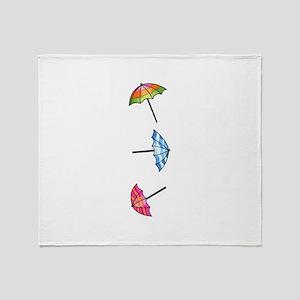 Umbrellas Throw Blanket