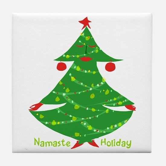 Namaste Holiday Tile Coaster