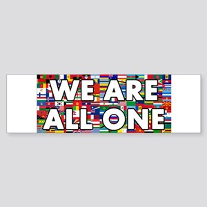 We Are All One 001 Bumper Sticker