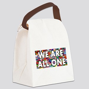 We Are All One 001 Canvas Lunch Bag