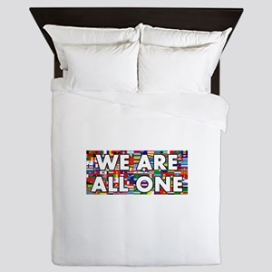 We Are All One 001 Queen Duvet