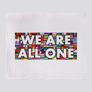 We Are All One 001 Throw Blanket