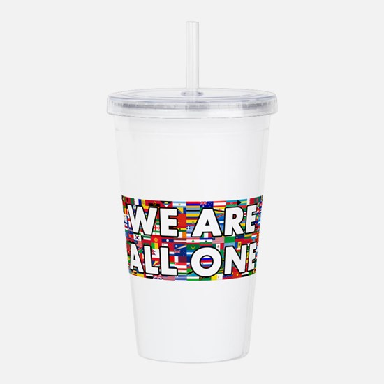 We Are All One 001 Acrylic Double-wall Tumbler