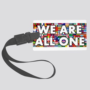 We Are All One 001 Large Luggage Tag