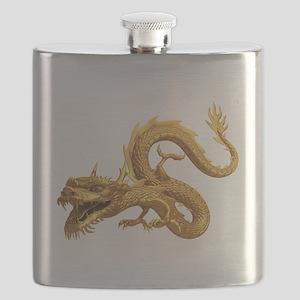 Golden Dragon Flask