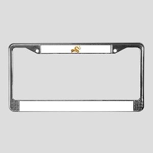 Golden Dragon License Plate Frame