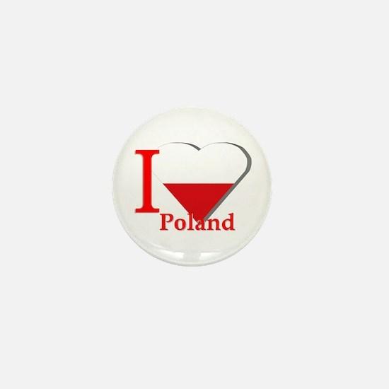 Ribbon Poland flag Mini Button