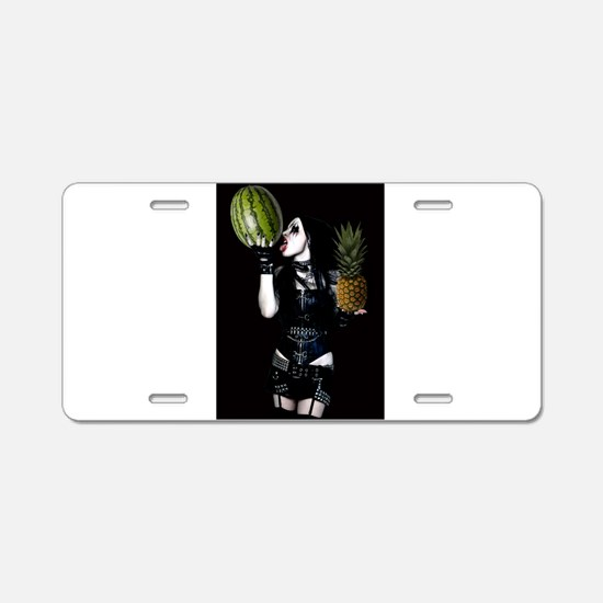 Healthy Goth Girl 001 Aluminum License Plate