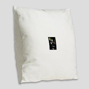 Healthy Goth Girl 001 Burlap Throw Pillow