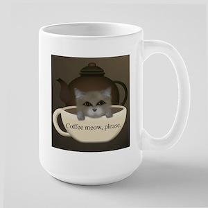 Coffee meow... Large Mug
