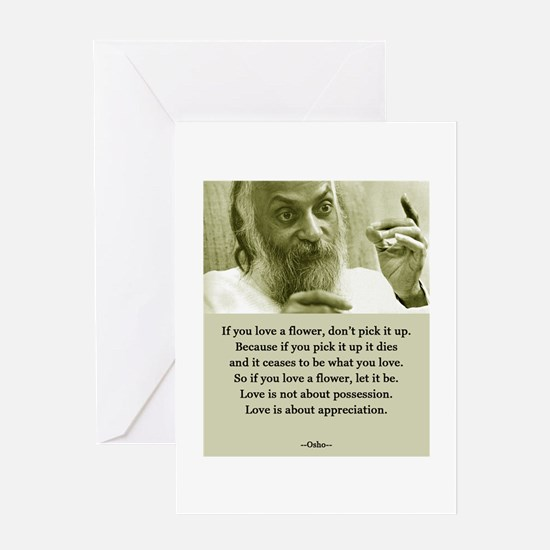 Osho 001 Greeting Cards