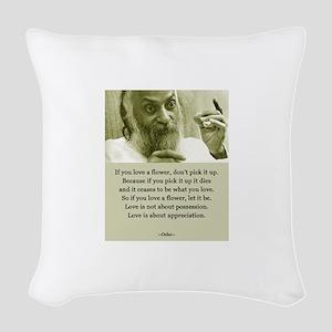 Osho 001 Woven Throw Pillow