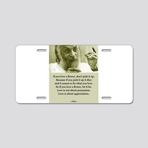 Osho 001 Aluminum License Plate
