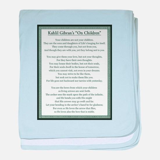Kahlil Gibran 002 baby blanket