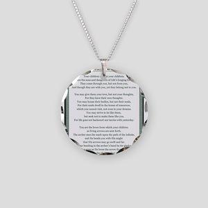 Kahlil Gibran 002 Necklace Circle Charm