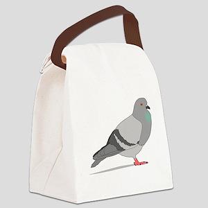 Cartoon Pigeon Canvas Lunch Bag
